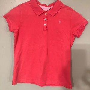 Lilly Pulitzer pink polo girl's size 14